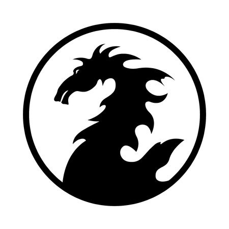 dragon design emblem Vector