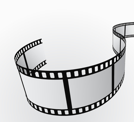 strips: film reel moving abstract background 3d