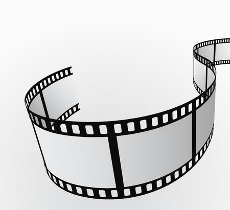 rollo pelicula: rollo de película en movimiento de fondo abstracto 3d