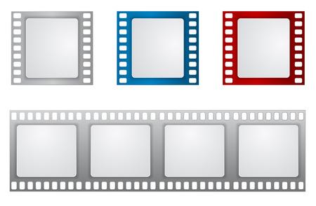 film reel pictogram achtergrond sjabloon Stock Illustratie