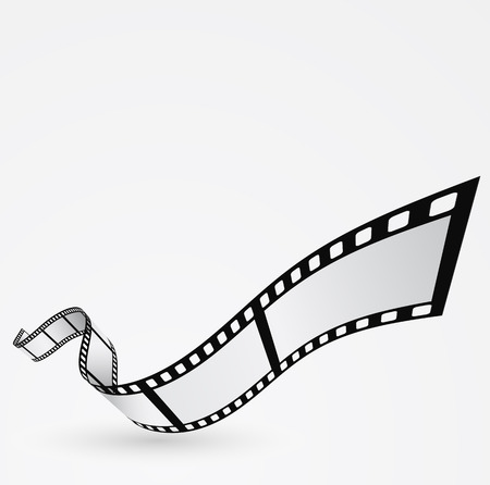 movie film: film roll moving design abstract background