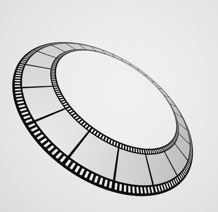 film strip round background design