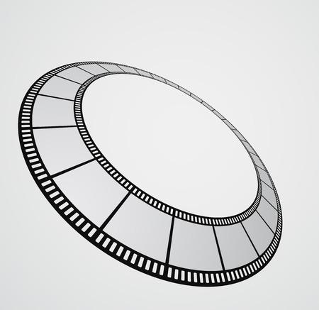 filmroll: film strip round background design