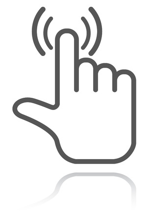 hand pointer icon Illustration