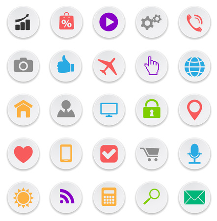 social media icons web buttons set