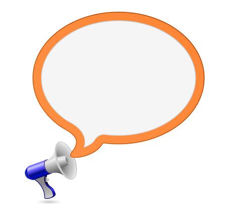 loudhailer: megaphone loudspeaker speech bubble icon Illustration