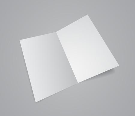 unfolded: opened white paper folder 3d design