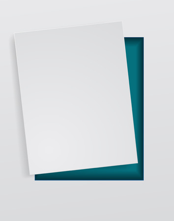 paper sheet white abstract background Illustration