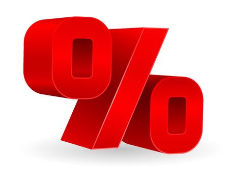 percent sign icon 3d design