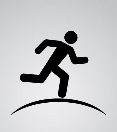 runnig man icon background Ilustração