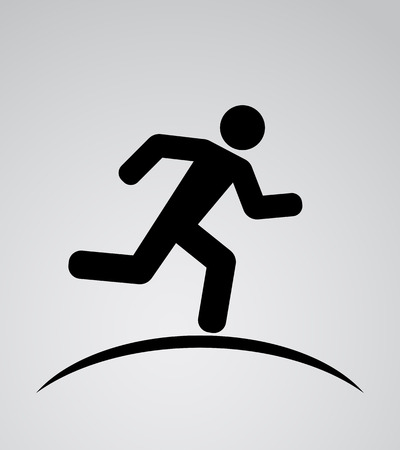 runnig man icon background Vettoriali