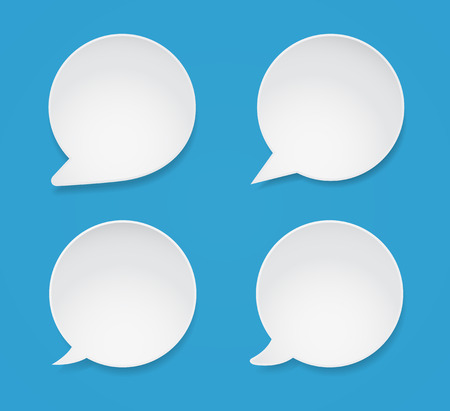 speech bubble icon set with shadow Illustration