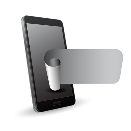 smartphone with banner 3d