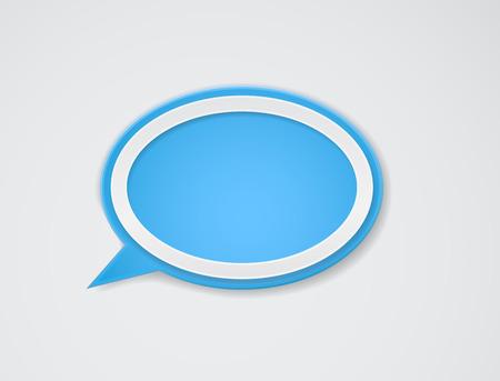 tekstballon schaduwachtergrond Stock Illustratie
