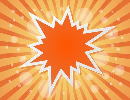 estrella caricatura: explosi�n de la estrella de fondo abstracto - concepto