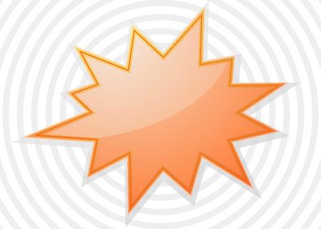 srar burst flash design icoon Stock Illustratie