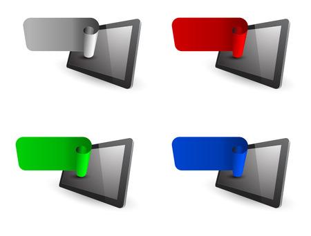 tablet pc 3D met roll web banner
