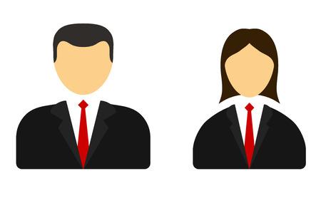 persoon user icon man vrouw Stock Illustratie