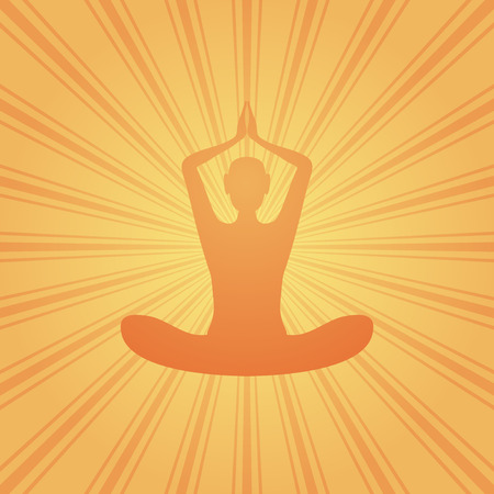 yoga abstract background with sunbeams