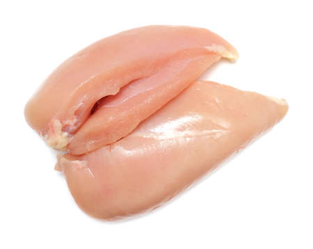 fresh chicken meat fillet isolated on white background