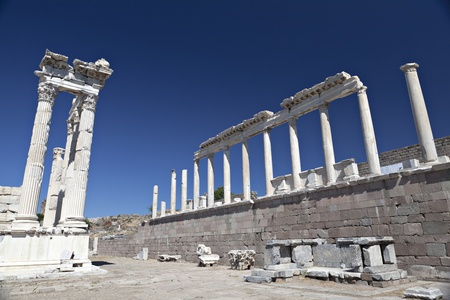 Temple of Trajan, Bergama,Izmir, Turkey Stock Photo - 12617144