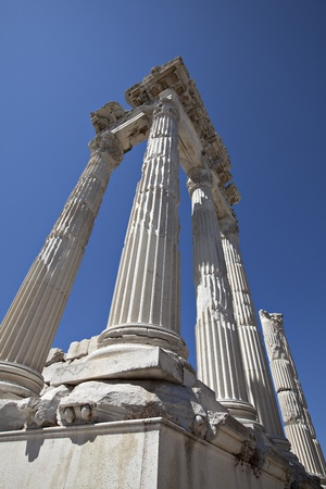 Temple of Trajan, Bergama,Izmir, Turkey