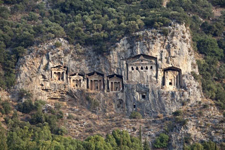 Lycian Rock Tombs in Dalyan, Mugla, Turkey