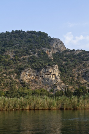 mugla: Lycian Rock Tombs in Dalyan, Mugla, Turkey