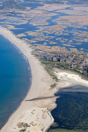 Iztuzu spiaggia e il delta del fiume Dalyan, Dalyan, Mugla, Turchia