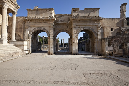 The Gates of Mazaeus and Mithridates, Ephesus, Izmir,Turkey photo