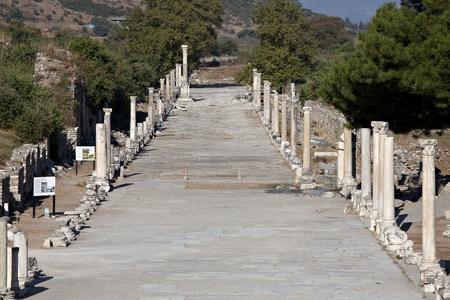 Horbour strada di Efeso, Izmir, Turchia Archivio Fotografico