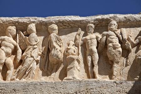 hadrian: Detalle de Adriano del Templo Foto de archivo