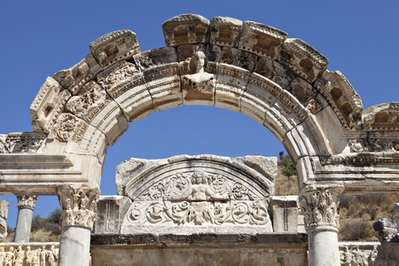 hadrian: Hadrian Temple, Ephesus, Izmir, Turkey Editorial