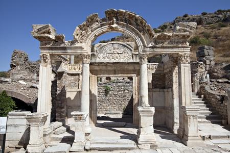 hadrian: Adriano Templo, �feso, Esmirna, Turqu�a Foto de archivo