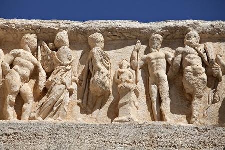 hadrian: Deail Templo de Adriano, �feso, Esmirna, Turqu�a