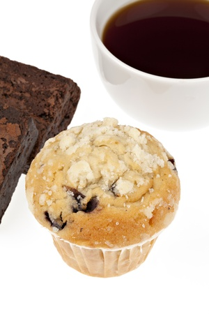 Cakes and coffe photo