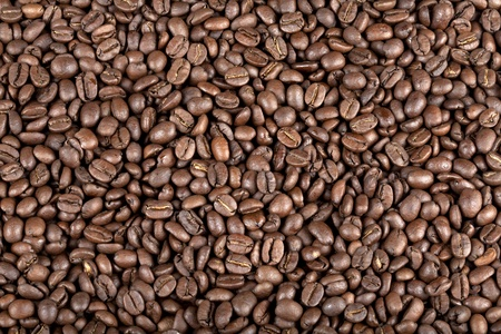 A macro view of coffe beans