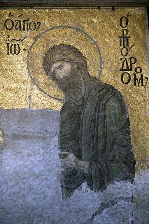 Giovanni Battista del CENTRY Mosaico Deesis 12 in La chiesa di Santa Sofia, Istanbul, Turchia