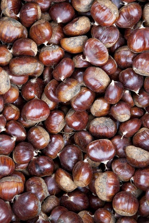A macro view of chestnuts photo