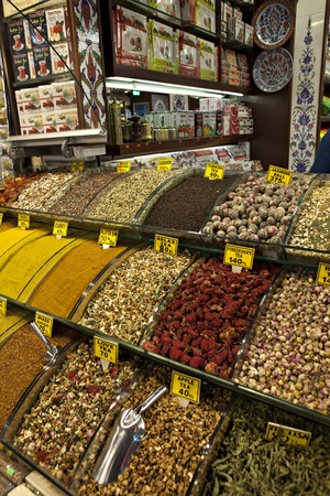 Spices in Misir Carsisi, Eminonu, Istanbul, Turley
