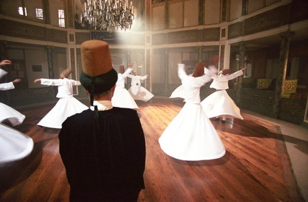 Whirling derwishes, Galata Dervish House, Istanbul