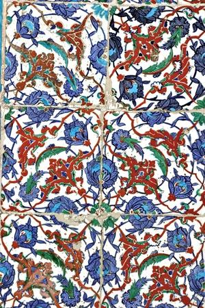 Turkish tile, Eyup Sultan Mosque, Istanbul, Turkey photo