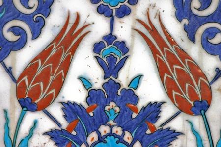 Turkish tile, Rustem Pasa Mosque, Istanbul, Turkey photo