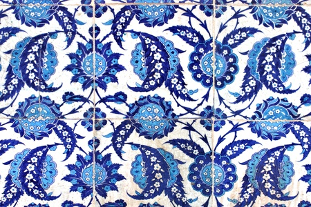 Turkish tile, Rustem Pasa Mosque, Istanbul, Turkey