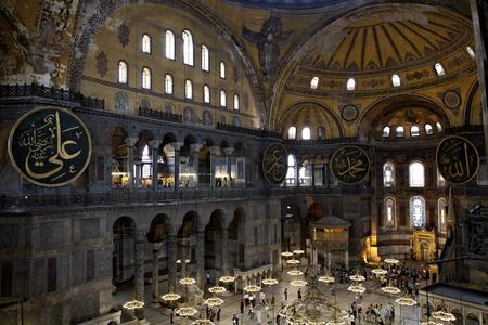 Haghia Sophia Haghia Sophia � un ex basilica patriarcale ortodossa, poi una moschea, ed ora un museo a Istanbul, Turchia Editoriali