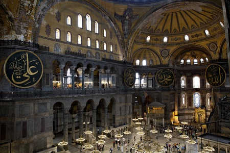 Haghia Sophia  Haghia Sophia is a former Orthodox patriarchal basilica, later a mosque, and now a museum in Istanbul, Turkey  Editorial