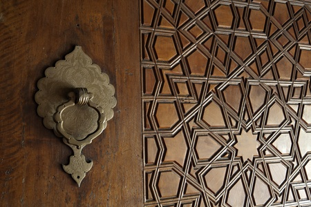 Turkey Edirne, Door patterns of Selimiye Mosque. The UNESCO World Heritage Site Of The Selimiye Mosque, Built By Mimar Sinan In 1575. Stock Photo