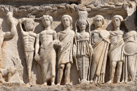 hadrian: Deail from Hadrian Temple, Ephesus, Izmir, Tukey