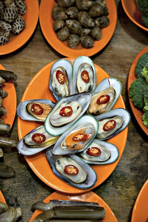 Sea foods from Hong Kong cusine