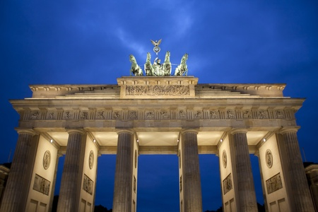 Brandenburg Gate at dawn, Berlin, Germany